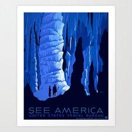 Vintage See America Travel Art Print