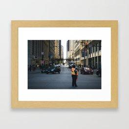 Chicago Streets Framed Art Print