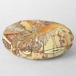 Alphonse Mucha Zodiac La Plume Floor Pillow