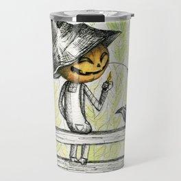 Mischievous Scarecrow Travel Mug
