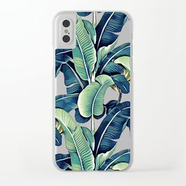 Banana leaves Clear iPhone Case