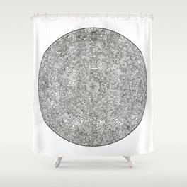 The Inner Hive Shower Curtain