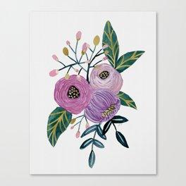 Vintage Floral Canvas Print