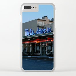 Mel's on Geary Street Clear iPhone Case