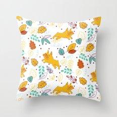 Frenchie Pattern Throw Pillow