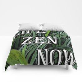 life zen now in grass Comforters
