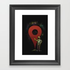 Destination Marked! Framed Art Print