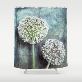 Allium Flowers Shower Curtain