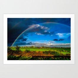 Rainbow over Ireland Art Print