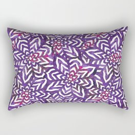 I don't need to improve - Purple and pink Rectangular Pillow