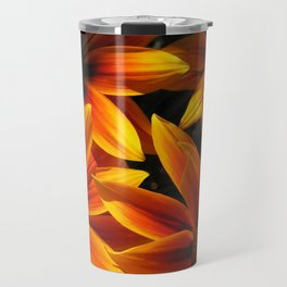Gazania named Kiss Orange Flame Travel Mug