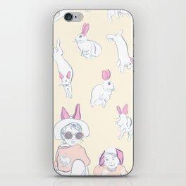 beach day bunnies iPhone Skin