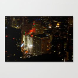 Wrigley Building in Bright Red and Green (Chicago Christmas/Holiday Collection) Canvas Print