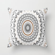 Black, Gold, and White Throw Pillow