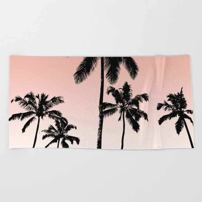 Sunset palms Beach Towel