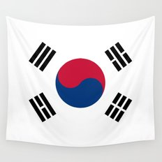 National flag of South Korea, officially the Republic of Korea, Authentic version - color and scale Wall Tapestry