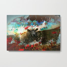 a dreaming sheep Metal Print