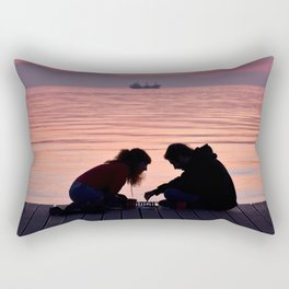 Lovely chess Rectangular Pillow