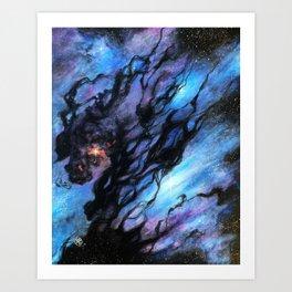 Black Nebula Art Print