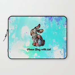 Happy Easter Rabbit - Please Stay with Me Laptop Sleeve