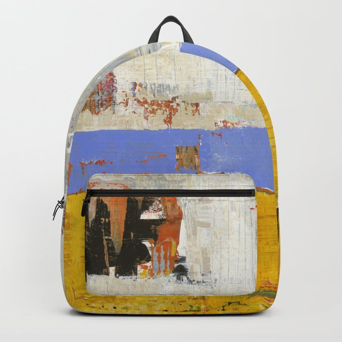 Amenity Abstract Landscape Yellow Modern Shawn McNulty Backpack