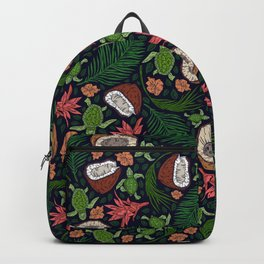 Tropical: Sea Turtles and Coconut Pattern Backpack
