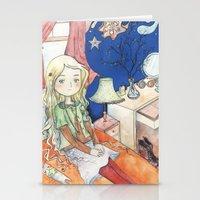 luna lovegood Stationery Cards featuring Luna Lovegood by malipi