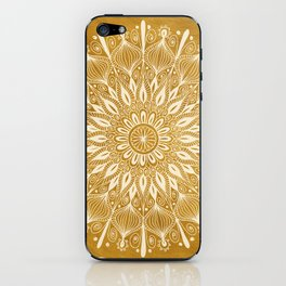 Vintage Mandala on Gold iPhone Skin