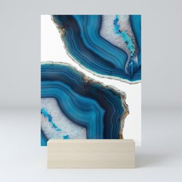 Blue Agate Mini Art Print