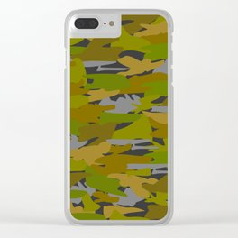 Camo - green Clear iPhone Case