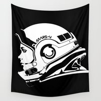 astronaut Wall Tapestries featuring Astronaut by Ana C Diaz Cano