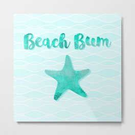 Beach Bum Glam Metal Print