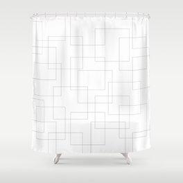 Inside the Box Modern Art Shower Curtain
