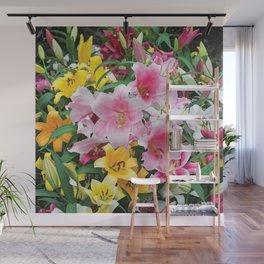 SPRING LILIES FLOWER GARDEN MEDLY Wall Mural