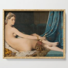 The Grand Odalisque - Jean-Auguste-Dominique Ingres Serving Tray
