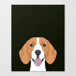 Darby - Beagle gifts for pet owners and dog person with a beagle Canvas Print