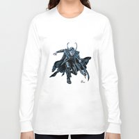 loki Long Sleeve T-shirts featuring Loki by Alessia Pelonzi