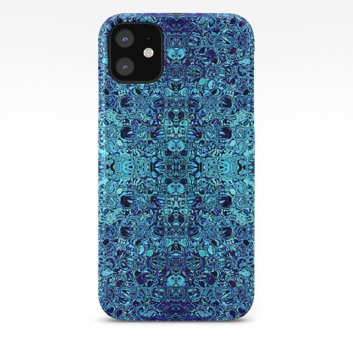 Deep blue glass mosaic iPhone Case