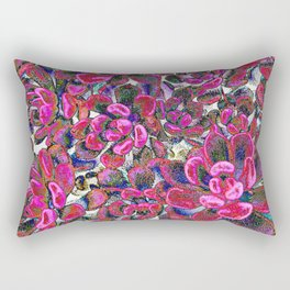 Floral tribute [red velvet] Rectangular Pillow
