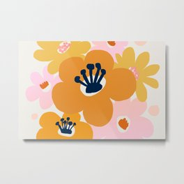 Abstraction_Flowers_Blossom_001 Metal Print