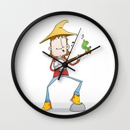 Banjo player Wall Clock