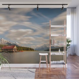 MALIGNE LAKE AUTUMN JASPER CANADA LANDSCAPE PHOTOGRAPHY Wall Mural
