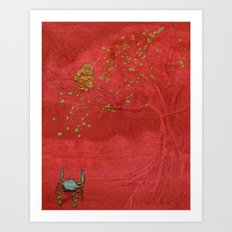The Crab and the Monkey Art Print