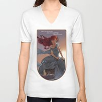 nouveau V-neck T-shirts featuring NOUVEAU 1989 by Lettie Bug