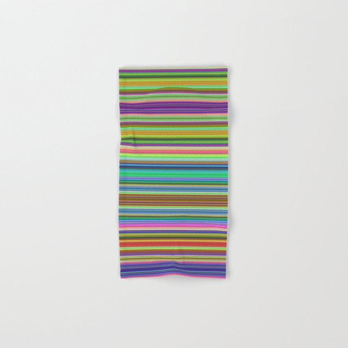 Summer Stripes – Clock 2 - Living Hell Hand & Bath Towel