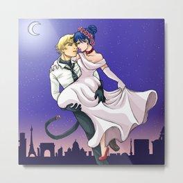 Lady bug romantic night Metal Print