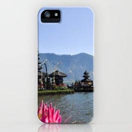 Ulun Banu Beratan Temple Bali Indonesia iPhone Case
