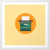 Typewriter Icon Art Print