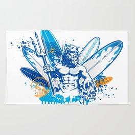 poseidon surfer II Rug