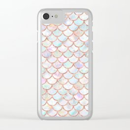 Pastel Memaid Scales Pattern Clear iPhone Case